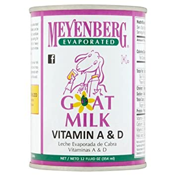 Meyenberg Evaporated Goat Milk, Vitamin D, 12 Ounce (Pack of 10)