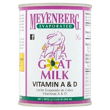 Meyenberg Evaporated Goat Milk, Vitamin D, 12 Ounce (Pack of 10)