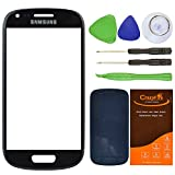 CrazyFire® Black Front Outer Glass Lens Screen Replacement For Samsung Galaxy S III Mini I8190 G730A G730V T399 with Tools Kit and Adhesive Tape