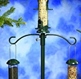 Stokes Select Metal Double Hanger with 16-Inch Pole Extender for Bird Feeders