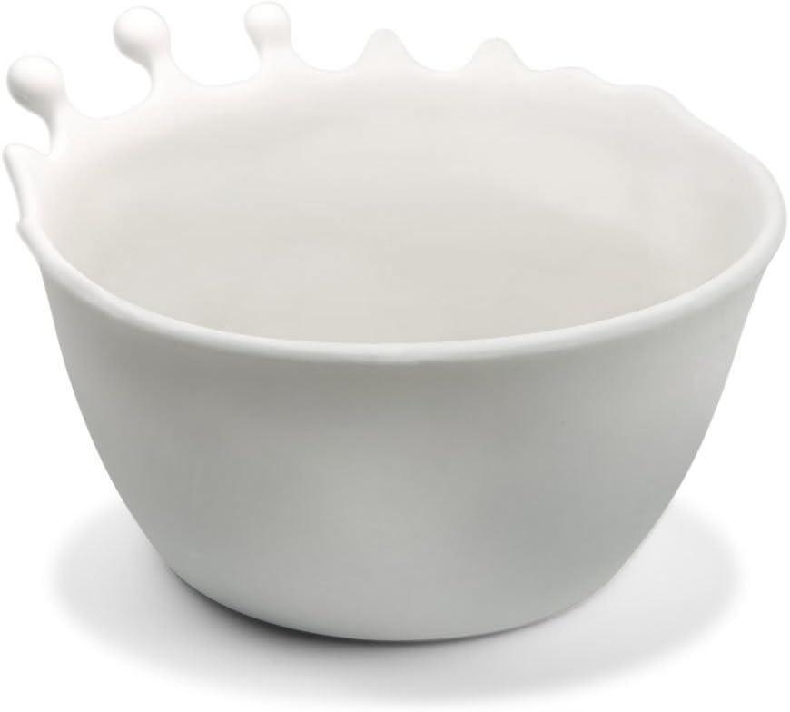 Fred SPILT MILK Splash Cereal Bowl, White