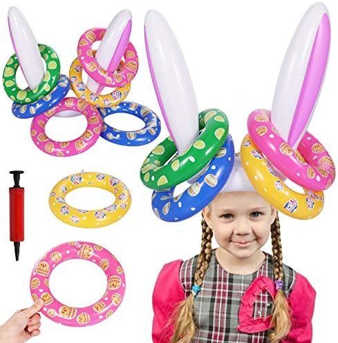 Easter Egg Hunt gonflable Bunny Rabbit Ring Toss Kids Family Fun Party Game