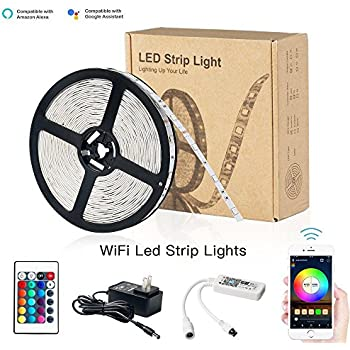 zombber smart wifi led lights strip kit with remote wifi controller power supply alexa. Black Bedroom Furniture Sets. Home Design Ideas