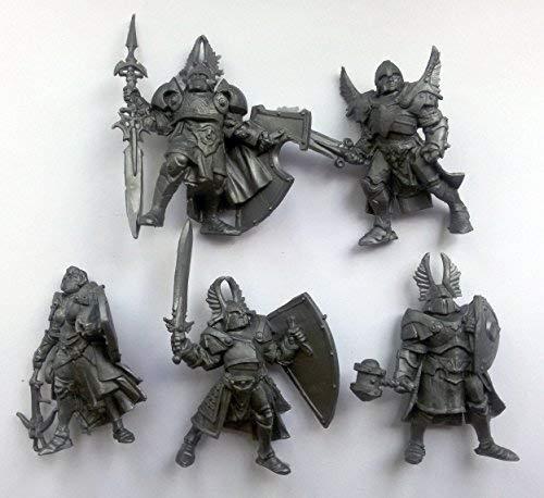 (Fantasy Battles Paladins 54 mm 1/32 - 5 Fantasy Figures Tehnolog Russian Toy)