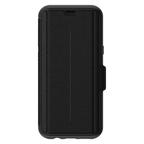 OtterBox STRADA SERIES for Samsung Galaxy S8+ – Retail Packaging – ONYX (BLACK/BLACK LEATHER)