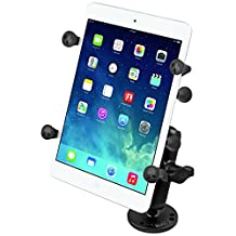 "RAM Mounts (RAM-B-138-UN8) Flat Surface Mount with Universal X-Grip Ii Holder for 7"" Tablets Including the Ipad Mini 1-3"