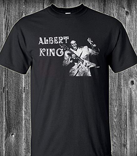 Adult Sizes S,M,L,XL Vintage Retro Look XXL Albert King Blues Guitar T Shirt