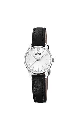 Lotus Watches Reloj Análogo clásico para Mujer de Cuarzo con Correa en Cuero 18573/1: Amazon.es: Relojes