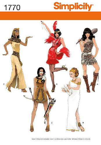 Goddess Pattern Costume (Simplicity 1770 Misses' Costumes Sewing Pattern, Size H5)
