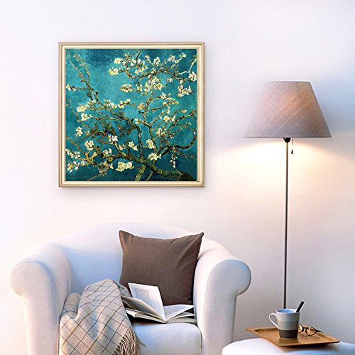 Faraway DIY Crystal Full Diamond Painting Van Gogh almond blossom coloring by numbers Rhinestone Painting for Wall Decor 20X20inch