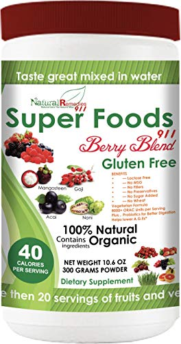 NR911 Superfoods 911 Berry Blend - Noni, Mangosteen, Goji, Acai, Pomegranate blended with numerous ORGANIC fruits, vegetables and herbs that doctors and experts recommend daily for optimum health!