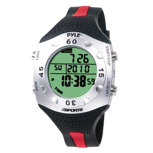 PYLE-SPORTS Advanced Dive Meter With Water Depth, Temperature, Dive Logand Auto EL Backlight (PSWDV60R)