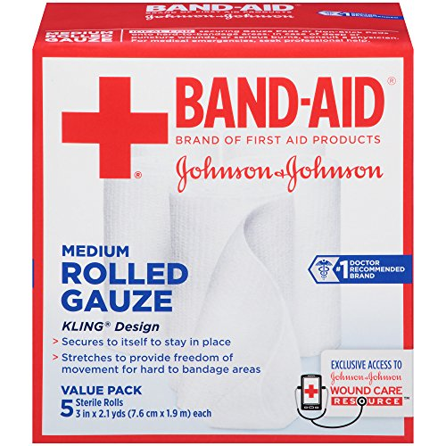 Band-Aid Brand Of First Aid Products Rolled Gauze, 3 Inch...