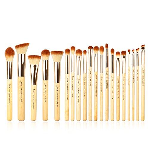Shader Brush Hair (Jessup Brand 20pcs Beauty Bamboo Professional Makeup Brushes Set Make up Brush Tools kit Foundation Powder Brushes Eye Shader T145)