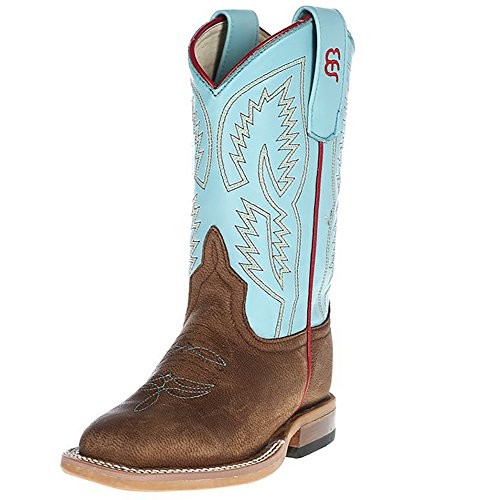 (Anderson Bean Boys Brown Mad Dog Turquoise Wave Cowboy Boots 10 M US Toddler Bone Mad Dog Turquoise Wave )