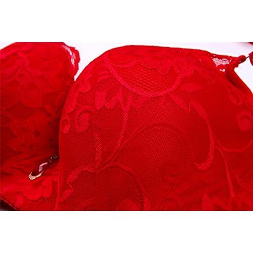be54605e16f03 DOOSINKI Women Underwire Push-up Bra Plus Size Floral Lace Soft Cup Everyday  Bra delicate