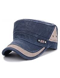 WETOO Flat Top Peaked Baseball Army Millitary Cadet Classical Style Hat Cap Visor