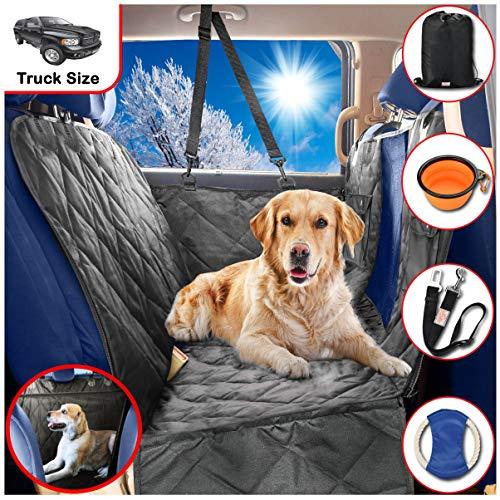 B-comfort Dog Car Seat Covers-Dog Car Hammock-Car Seat Cover For Dogs-Seat Covers For Trucks-SUV-Backseat Dog Hammock-Car Seat Protector For Dogs-Back Seat Cover For Dogs-Pet Seat Cover-Black-54×58 For Sale
