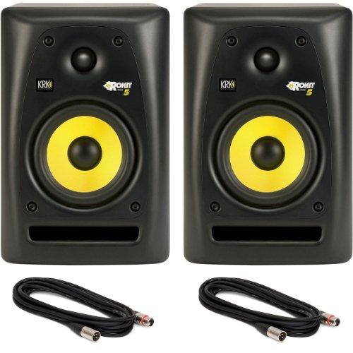 Pair of KRK Rokit 5 Studio Monitor Speakers with Two 18-Foot XLR Cables, Best Gadgets