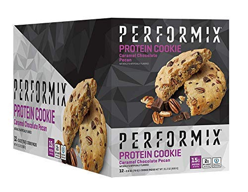 PERFORMIX Keto Friendly Protein Cookies - ioProtein Blend, 12 Count Box, Chocolate Pecan Salted Caramel