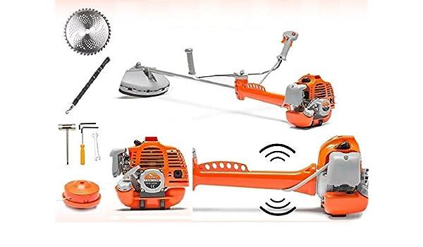Fuerte Profesional Desbrozadora 43 cm³ M. incisión (libre de hilos de Schneider Powermat.redvib Tecnología Anti – Vibrations – Sordina.: Amazon.es: Bricolaje y herramientas