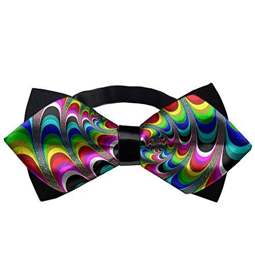 YEAHSPACE Mens Silk Bowtie Gift Art Swirl Bow Ties For Teen Boys