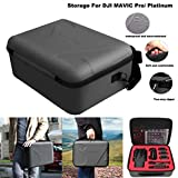Hisoul for DJI Mavic Pro/ Platinum Storage Box, Multiple Storage Compartments, Built-in Zipper Mesh Bag, Pu + EVA Hard Waterproof Carrying Case Cover Bag Box
