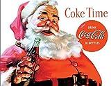Coca Cola Coke Santa Claus Christmas Tin Sign 13 x 16in