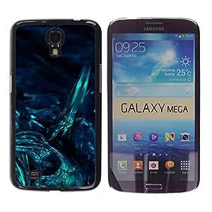TopCaseStore / la caja del caucho duro de la cubierta de protección de la piel - Underwater Dark Art Night Diving - Samsung Galaxy Mega 6.3 I9200 SGH-i527