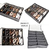 DECOLUXE Set of 2 Under Bed Shoe Organizer and