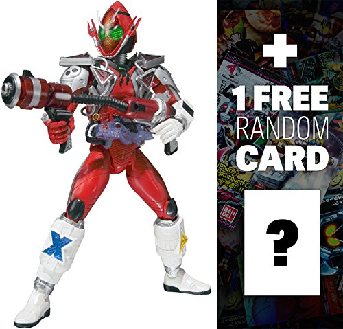 Kamen Rider Fourze Fire States: Kamen Rider Fourze x Tamashii Nations S.H. Figuarts Action Figure + 1 FREE Official Japanese Kamen Rider Trading Card Bundle