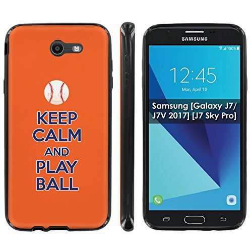 Samsung [Galaxy J7/J7V 2017] [J7 Sky Pro] Soft Mold [Mobiflare] [Black] Thin Gel Protect Cover - [Play Ball - New York] for Galaxy J7 [2017] [5.5