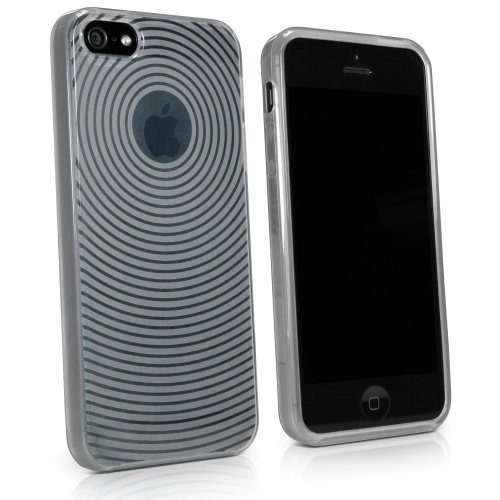 Cyclone Slip (BoxWave Cyclone iPhone 5s / 5 Crystal Slip - Concentric Circle Design Slim-Fit TPU Skin Case for Durable Non-Slip Grip and Protection - Apple iPhone 5s / 5 Covers and Cases (Frosted Clear))