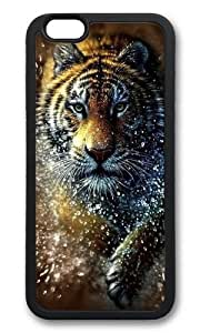 iPhone 6 Plus Case,VUTTOO Stylish Tiger Splash Soft Case For Apple iPhone 6 Plus (5.5 Inch) - TPU Black