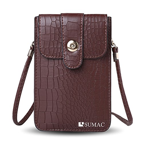 Multifunctional Leather Carrying case Shoulder Crocodile