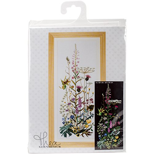 "Wild Flowers On Aida Counted Cross Stitch Kit-15""X36"" 18 Cou"