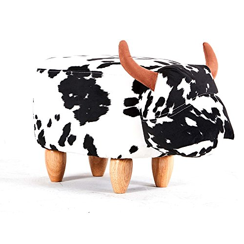 Modern Home Soft Plush Ride-On Stool/Ottoman - Spotted Cow by Modernhome