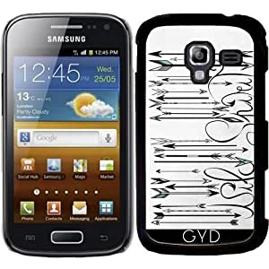 DesignedByIndependentArtists Funda para Samsung Galaxy Ace 2 (GT-I8160) - Código De Barras Salvaje Espíritu B & W by LouJah