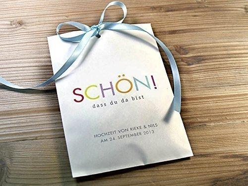 Gastgeschenk Geschenktüte personalisierbar Tischdeko 10 Stück