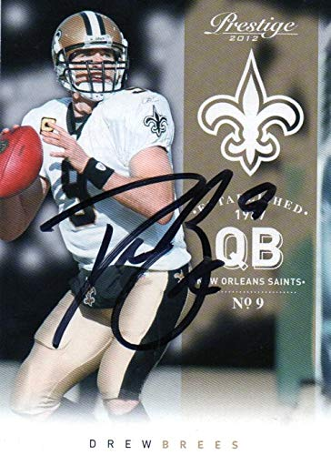 Drew Brees New Orleans Saints Autographed Signed 2012 Panini Card - COA - Mint