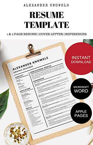 Amazoncom Alexander Knowels Resume Cv Template For Microsoft Word