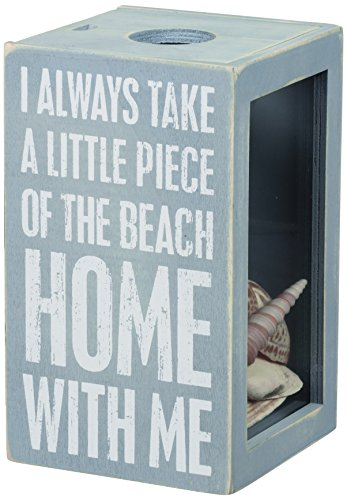 Primitives by Kathy Beach House Decor Sea Shell Holder, 4.25 x 7.25 x 4.25-Inches, Piece