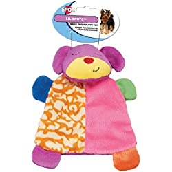 Ethical Pet Lil Spots Plush Blanket Toys for Small Dogs and Puppies, 7-Inch, Assorted