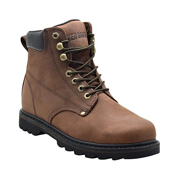 """EVER BOOTS """"Tank Men's Soft Toe Oil Full Grain Leather Work Boots Construction Rubber Sole 1"""