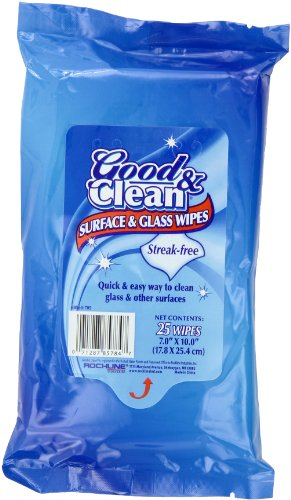 Good & Clean Glass & Surface Wipes, Peel & Reseal, 25-Count Packages (Pack of - To Glasses Way Good Clean