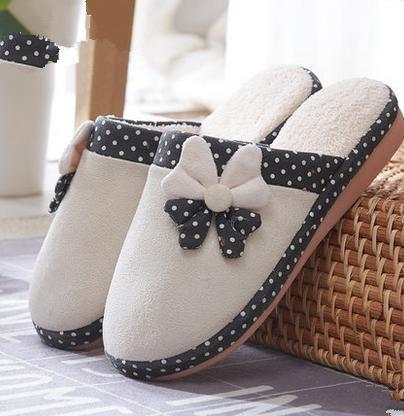 ciabatte cadono con uso donne pantofole calda Le e inverno per di di beige anti mezzo casa cotone antiscivolo carino coperta pacchetto domestico awp54q5x