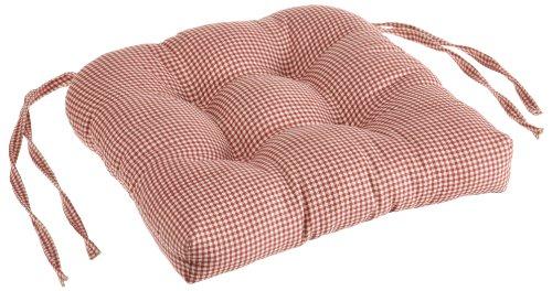 Logan Gingham Check Print Cushioned Chair Pad, Deep (Gingham Chair)