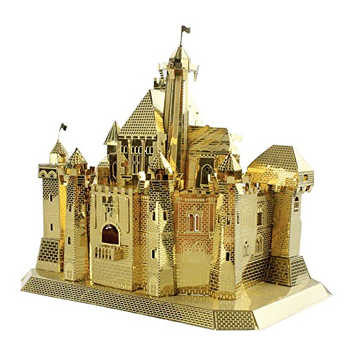 MU 3D Metal Puzzle Sleeping Beauty Castle Fantasy Castle Building Model FC-G01 DIY 3D Metal Puzzle Kits Laser Cut Jigsaw Toys