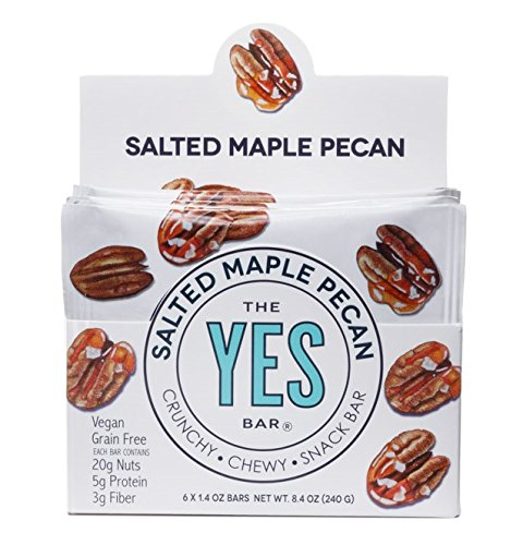 Vegan Salted Maple Pecan - Gourmet Gluten-Free, Low Sugar, Paleo Snack Bar (Pack of 6)
