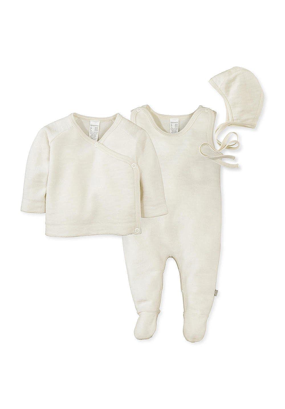 hessnatur Baby Mädchen und Jungen Unisex Erstlingspaket Wollfrottee aus Reiner Schurwolle